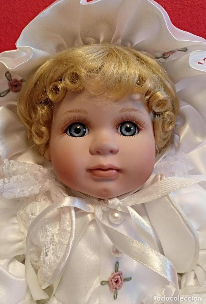 Muñecas Porcelana: Impresionante Bebe de porcelana.En su caja original y con certificado de edicion limitada - Foto 3 - 113263211
