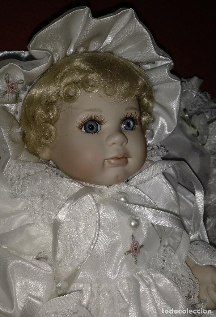 Muñecas Porcelana: Impresionante Bebe de porcelana.En su caja original y con certificado de edicion limitada - Foto 14 - 113263211