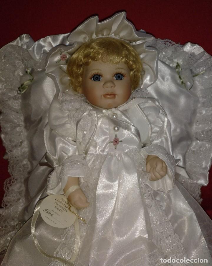 Muñecas Porcelana: Impresionante Bebe de porcelana.En su caja original y con certificado de edicion limitada - Foto 15 - 113263211