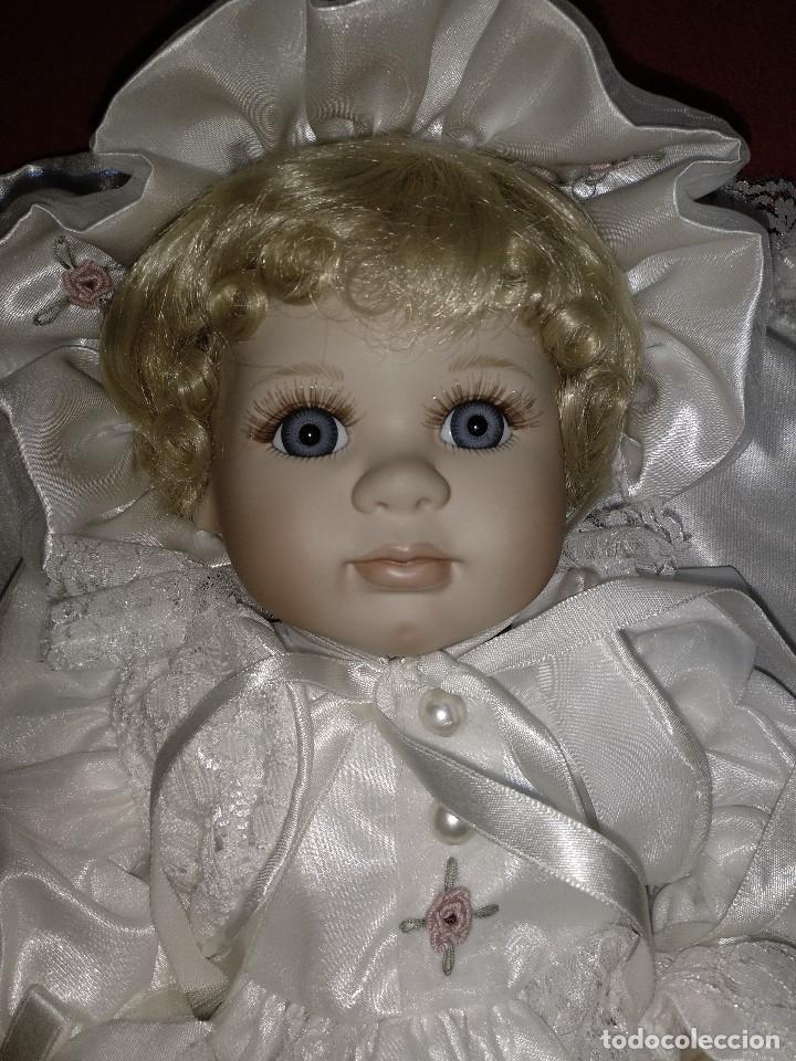 Muñecas Porcelana: Impresionante Bebe de porcelana.En su caja original y con certificado de edicion limitada - Foto 17 - 113263211