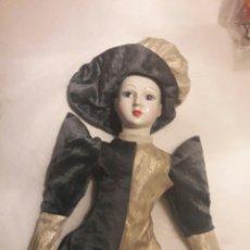 Muñecas Porcelana: ARLEQUÍN DE PORCELANA. 65CM. MUÑECA. Lote 114302300