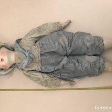 Muñecas Porcelana: ANTIGUA MUÑECA DE PORCELANA Y TRAPO. Lote 115107059