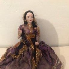 Muñecas Porcelana: ANTIGUA MUÑECA DE PORCELANA Y TRAPO INDIA. Lote 115107614
