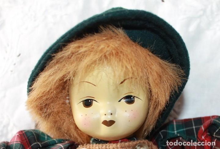 Muñecas Porcelana: MUÑECO DE TRAPO CON CARA PORCELANA-VINTAGE - Foto 2 - 115340863