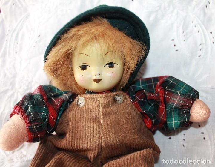 Muñecas Porcelana: MUÑECO DE TRAPO CON CARA PORCELANA-VINTAGE - Foto 4 - 115340863