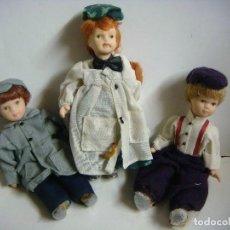 Muñecas Porcelana: LOTE DE 3 MUÑECOS EN PORCELANA (#). Lote 115404583