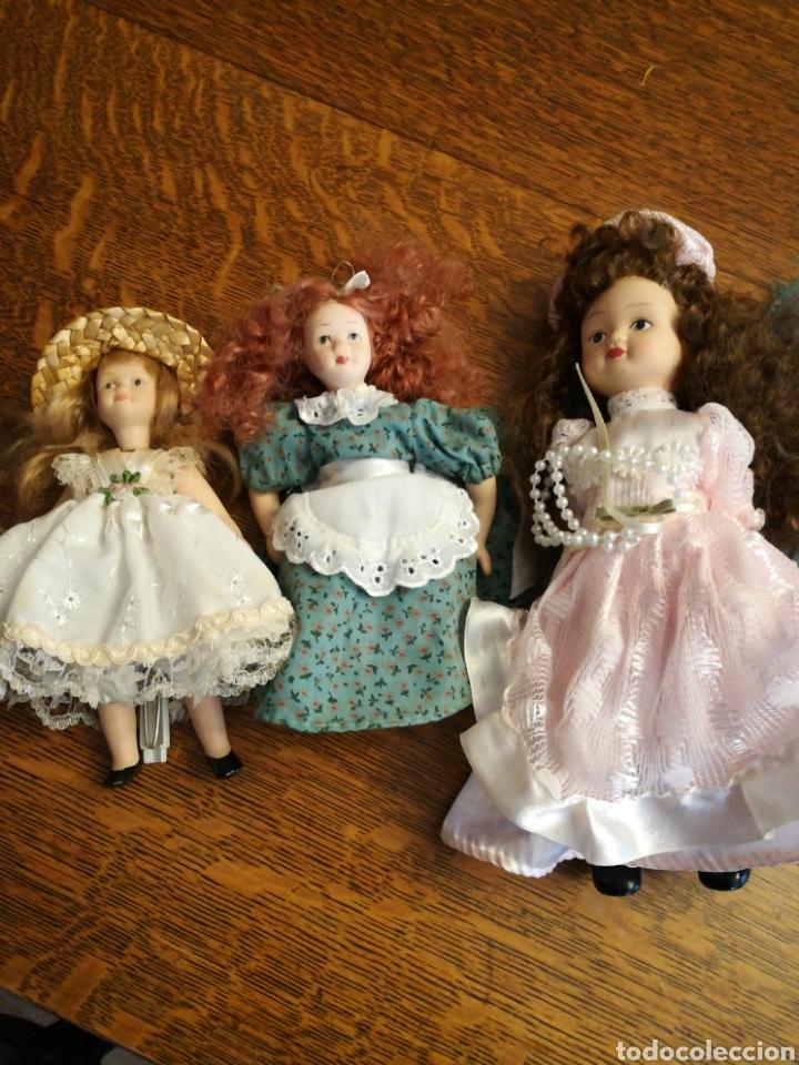 Muñecas Porcelana: Ocho muñecas antiguas de porcelana y dos modernas de cerámica. - Foto 2 - 115559814