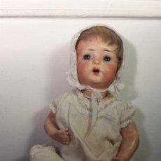 Muñecas Porcelana: MUÑECO BEBE ANTÍGUO. CABEZA DE BISCUIT. Lote 115889191