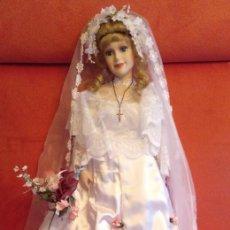 Muñecas Porcelana: MUÑECA DE PORCELANA DE 72 CM MAS LA MEDIDA DEL GORRO.. Lote 116533559