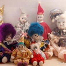 Muñecas Porcelana: COLECCIÓN DE PAYASOS Y ARLEQUINES. Lote 119228815
