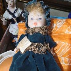 Muñecas Porcelana: MUÑECA DE PORCELA PINTADA A MANO DE COLECCION GIUSY. Lote 120675443