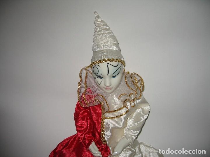 Muñecas Porcelana: ARLEQUÍN DE FANTASÍA DE PORCELANA AÑO 1989 - Foto 2 - 120846223