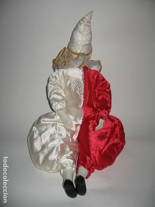 Muñecas Porcelana: ARLEQUÍN DE FANTASÍA DE PORCELANA AÑO 1989 - Foto 4 - 120846223