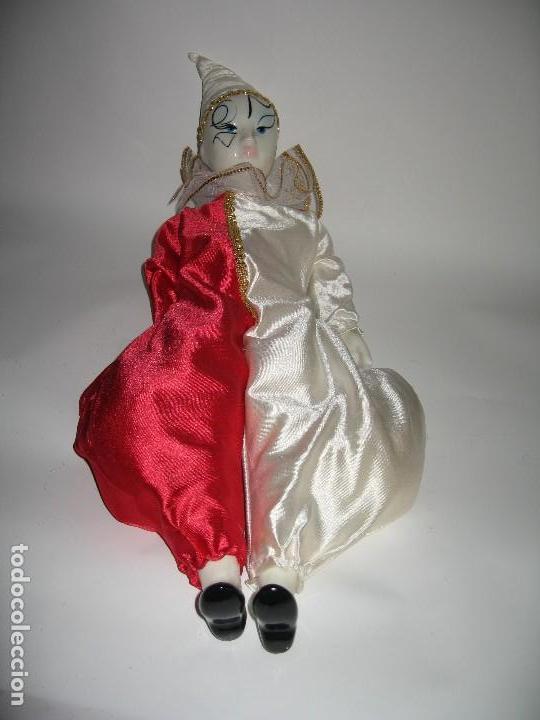 Muñecas Porcelana: ARLEQUÍN DE FANTASÍA DE PORCELANA AÑO 1989 - Foto 5 - 120846223