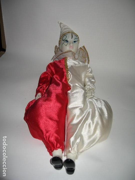 Muñecas Porcelana: ARLEQUÍN DE FANTASÍA DE PORCELANA AÑO 1989 - Foto 6 - 120846223