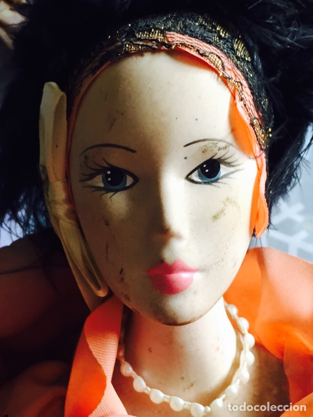 Muñecas Porcelana: Bonita muñeca de piano en porcelana - Foto 2 - 121505566