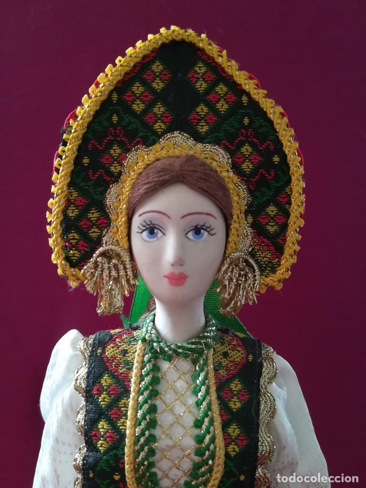 Muñecas Porcelana: MUÑECA RUSA DE PORCELANA DE BISCUIT PINTADA A MANO - Foto 3 - 126793447