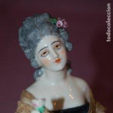 Muñecas Porcelana: DAMA ANTIGUA DE PORCELANA. Lote 127784355