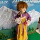 Muñecas Porcelana: ANTIGUA MUÑECA AUTOMATA CUERDA FARKAS MUSICAL CERAMICA DOS CUERDAS. Lote 128579243