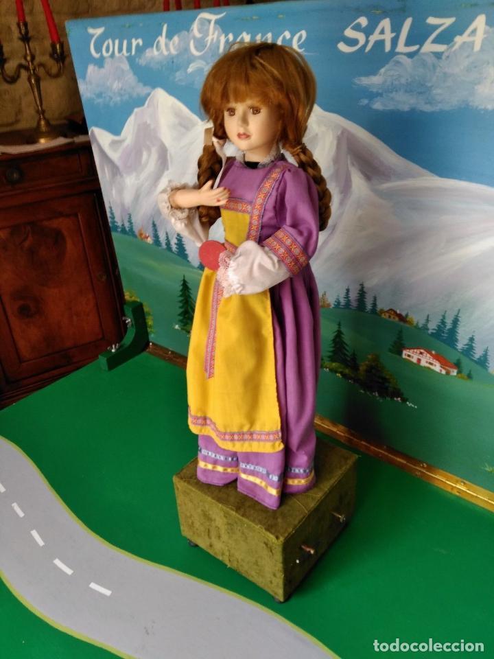Muñecas Porcelana: ANTIGUA MUÑECA AUTOMATA CUERDA FARKAS MUSICAL CERAMICA DOS CUERDAS - Foto 2 - 128579243