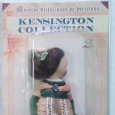 Muñecas Porcelana: PRECIOSA MUÑECA VICTORIANA DE PORCELANA COLECCION KENSINGTON COLLECTION, EN SU ESTUCHE ORIGINAL. Lote 129750723