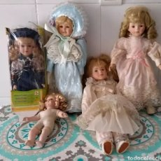 Muñecas Porcelana: LOTE DE 5 MUÑECAS. Lote 132474879