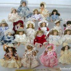 Muñecas Porcelana - Gran Lote años 90 's . Colección de 20 Muñecas porcelana Las Embajadoras de la Moda Casa de Muñecas - 133146606
