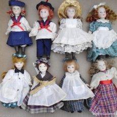 Muñecas Porcelana: 8 MUÑECAS DE PORCELANA MIRA LAS FOTOS. Lote 133356966