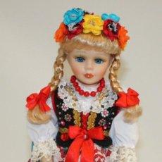 Muñecas Porcelana: PRECIOSA MUÑECA DE PORCELANA POLACA.. Lote 133591474