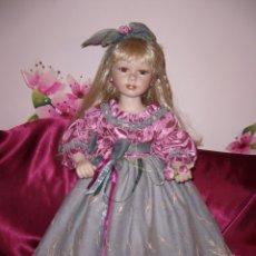 Muñecas Porcelana: MUÑECA MUÑECO COLECCIÓN-PORCELANA- 65 CM-EN CAJA-NUEVA-CHINO-JAPONES-ORIENTAL-MARCA-NUEVA-PRECIOSA. Lote 128589347