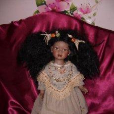 Muñecas Porcelana: MUÑECA PORCELANA-47 CM-MULATA-NEGRA-AFRICANA-PERUANA-COLOMBIANA-PRECIOSA-COLECCIÓN. Lote 133595018