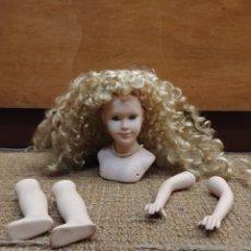 Muñecas Porcelana: LOTE DE CABEZA DE MUÑECA, BRAZOS Y PIERNAS. Lote 133716714