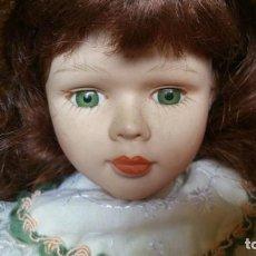 Muñecas Porcelana: PRECIOSA MUÑECA DE PORCELANA Y TRAPO, 30 CM. Lote 133727402