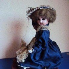 Muñecas Porcelana: (ANT-180936) AUTÓMATA MUSICAL / CABEZA DE PORCELANA / AÑOS 60 - 70 - FUNCIONANDO. Lote 133908982