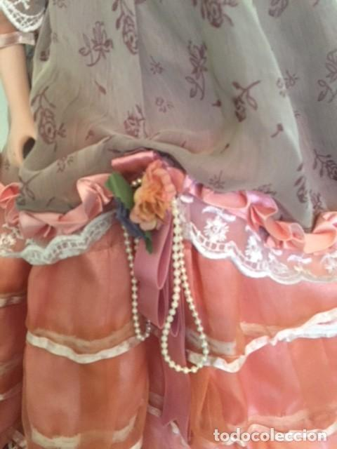 Muñecas Porcelana: Preciosa gran muñeca de porcelana años 70 con bonito vestido todo detalle 57 cm - Foto 7 - 136223418