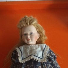 Muñecas Porcelana: ANTIGUA MUÑECA PORCELANA 42CM MARCA JSC. Lote 138541106