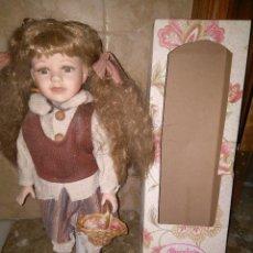 Muñecas Porcelana: OCASION ANTIGUA MUÑECA DE PORCELANA PORCELAIN DOLL. Lote 139331086
