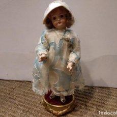 Muñecas Porcelana: ANTIGUA MUÑECA DE PORCELANA SOBRE PODIO O PEDESTAL. Lote 139806430