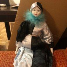 Muñecas Porcelana: ARLEQUÍN MUÑECO DE PORCELANA 1960 ORIGINAL Y EN PERFECTO ESTADO. Lote 140128310