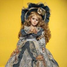Muñecas Porcelana: PRECIOSA MUÑECA DE PORCELANA. 45 CM.. Lote 140475026