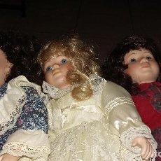 Muñecas Porcelana: POORCELANA PROMENADE LOTE 3 MUÑECA TODAS NUMERADAS EN NUCA. Lote 141954126