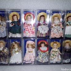 Muñecas Porcelana: COLECCIÓN COMPLETA 12 MUÑECAS DE PORCELANA MINI COLLECTIONS LATINA GIFT 2001 BY ARTESANÍA LATINA,S.A. Lote 141967868
