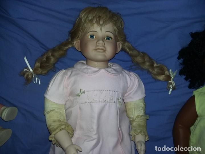 Muñecas Porcelana: antigua muñeca porcelana muy grande 66 cm sin marca aparente cuerpo de composición necesita aseo - Foto 2 - 142356710