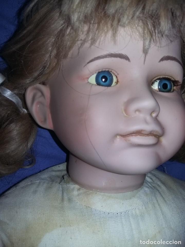 Muñecas Porcelana: antigua muñeca porcelana muy grande 66 cm sin marca aparente cuerpo de composición necesita aseo - Foto 6 - 142356710