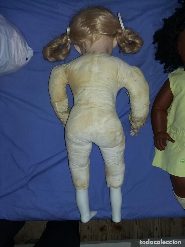 Muñecas Porcelana: antigua muñeca porcelana muy grande 66 cm sin marca aparente cuerpo de composición necesita aseo - Foto 8 - 142356710