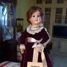 Muñecas Porcelana: MUÑECA ANTIGUA AICH MENZEL & CO. DE PORCELANA 1900'. Lote 142472118