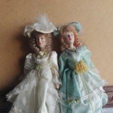 Muñecas Porcelana: MUÑECAS DE ESTILO ANTIGUO EN PORCELANA 20 CM DE COLECCIÓN MARIN CHICLANA???. Lote 142692480