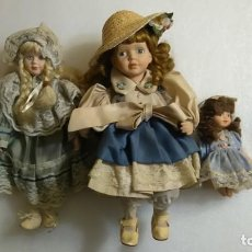 Muñecas Porcelana: LOTE MUÑECAS VICTORIANAS PORCELANA. Lote 144405554