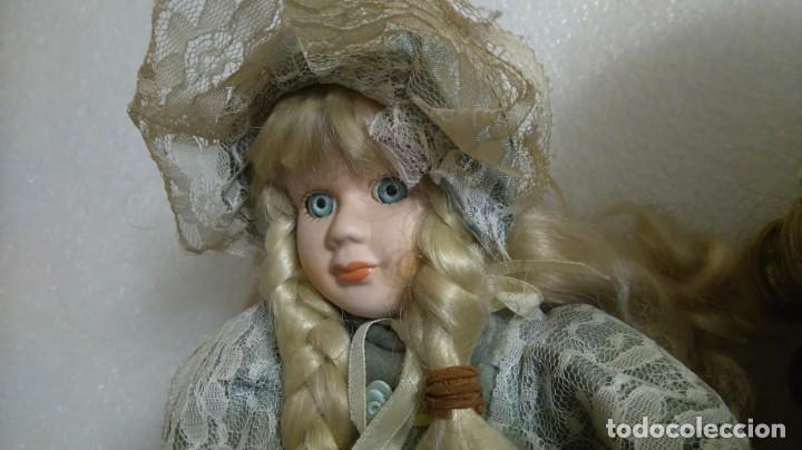 Muñecas Porcelana: Lote muñecas victorianas porcelana - Foto 3 - 144405554