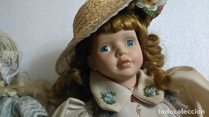 Muñecas Porcelana: Lote muñecas victorianas porcelana - Foto 4 - 144405554